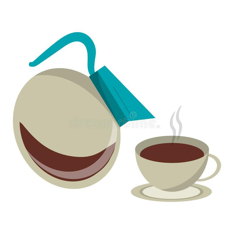 Kawa pije pojęcie ilustracji