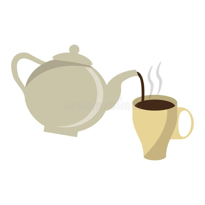 Kawa pije pojęcie royalty ilustracja