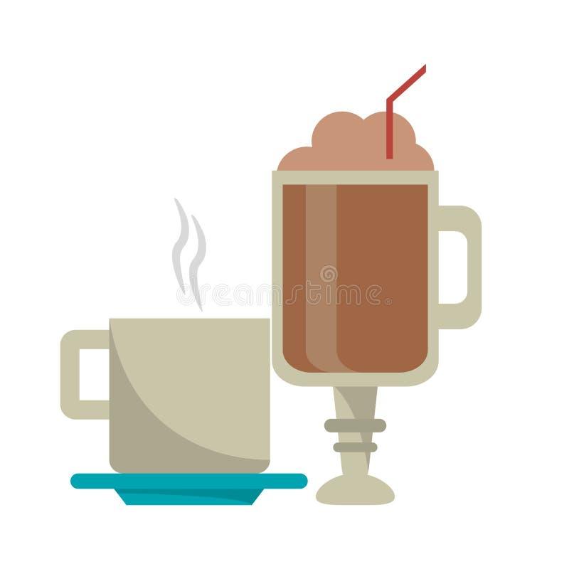 Kawa pije pojęcie ilustracja wektor