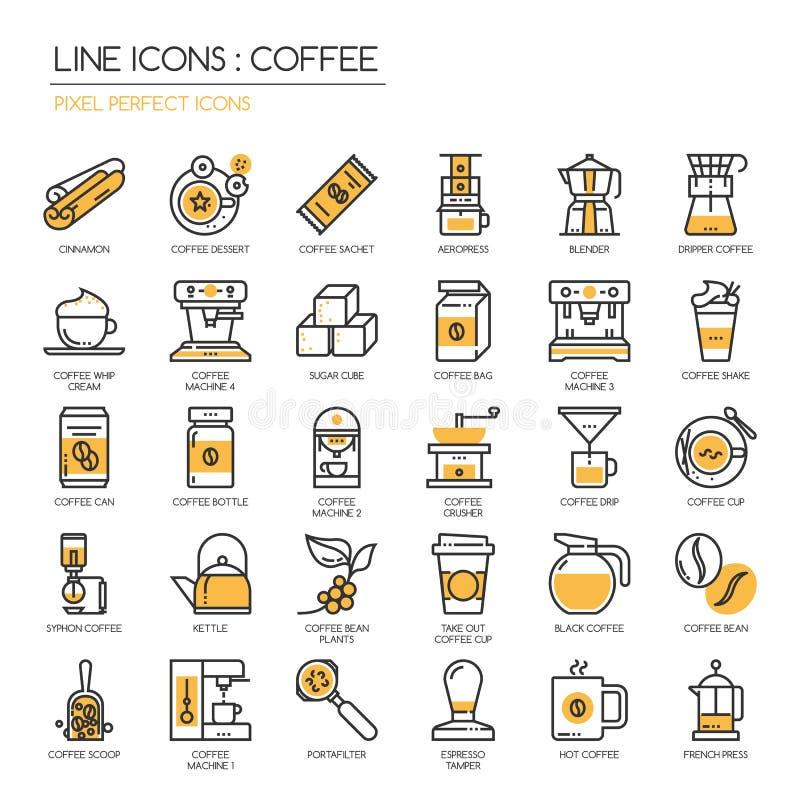 Kawa, piksel perfect ikona royalty ilustracja