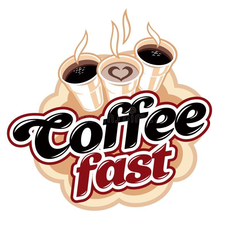 Kawa postu napój ilustracja wektor
