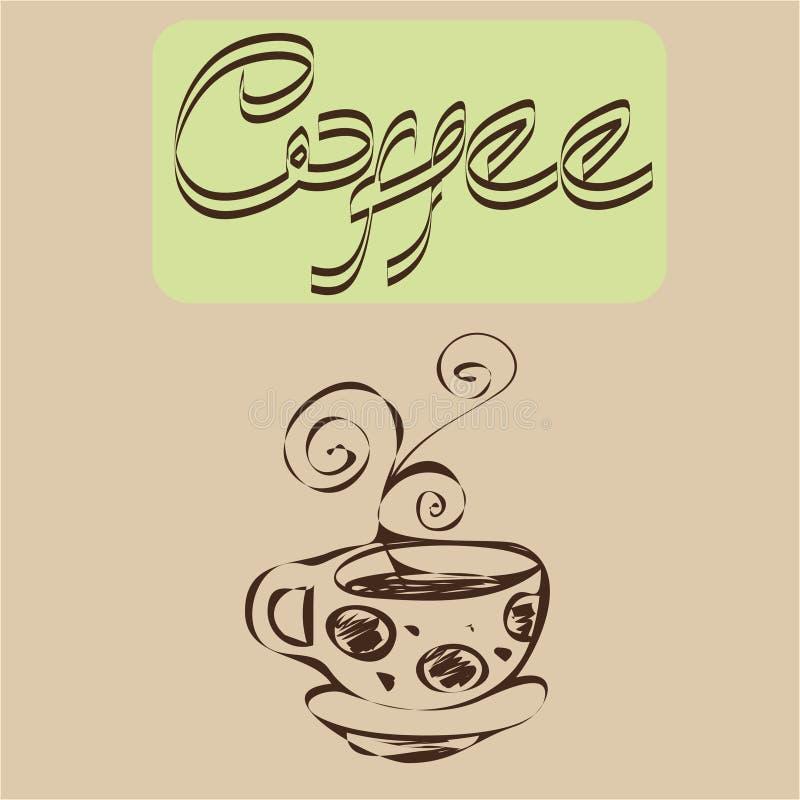 Kawa projekty obraz stock