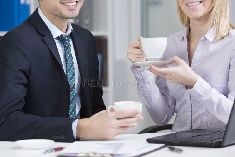 Kawa przy pracą zdjęcie stock