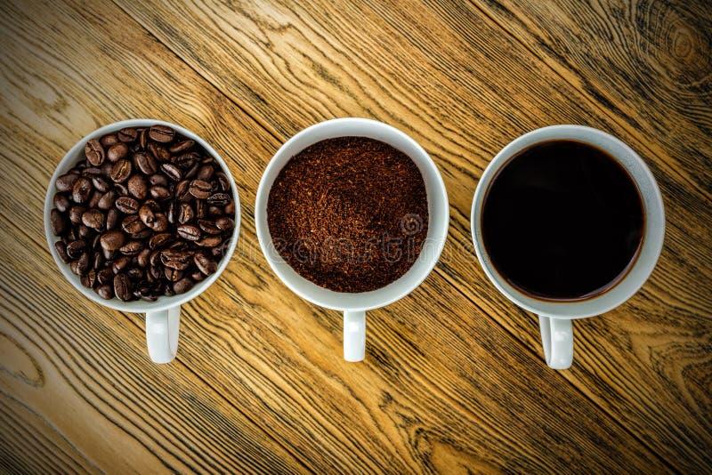 Kawa, ranku początek Szybkościomierz energia kreatywnie pomysł Gorąca kawa, odgórny widok zdjęcia royalty free