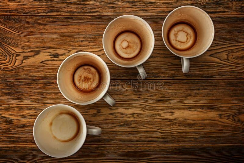 Kawa, ranku początek Szybkościomierz energia kreatywnie pomysł Gorąca kawa, odgórny widok obraz royalty free
