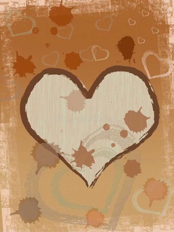 kawa serce brown ilustracja wektor