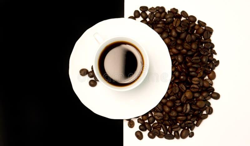 Kawa w Czarny I Biały zdjęcia stock
