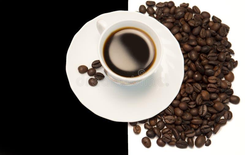 Kawa w Czarny I Biały fotografia stock
