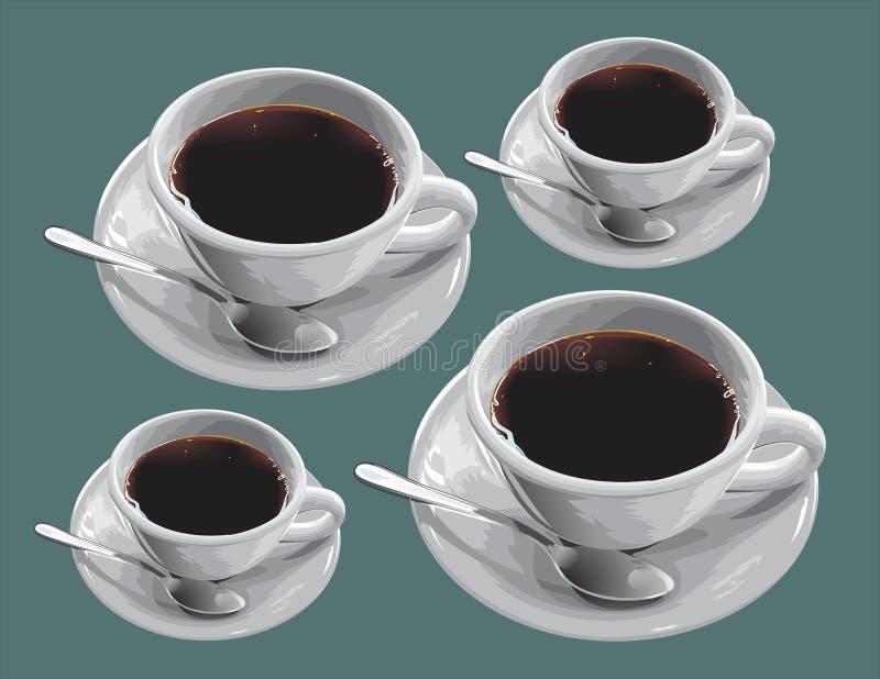 Kawa w filiżankach obraz stock
