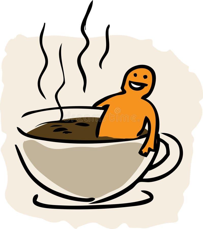 kawa w wannie royalty ilustracja