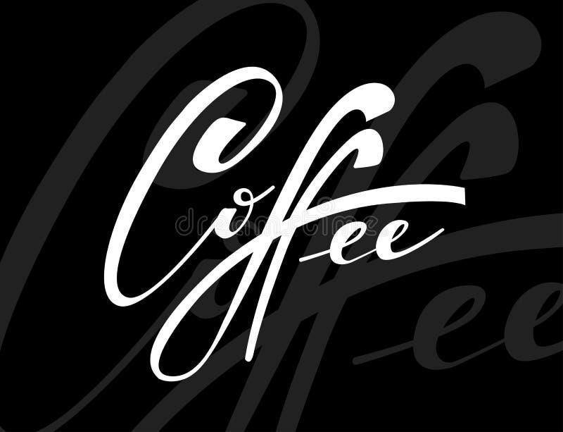 Kawa Wektorowa ilustracja Ręcznie pisany literowanie Wektorowi elementy dla sklepu z kawą, rynek, cukierniany projekt, restauracy ilustracja wektor