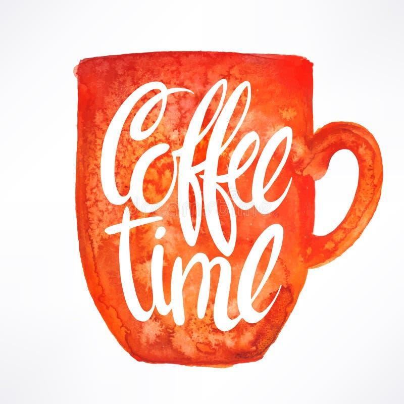 kawa więcej czasu ilustracja wektor