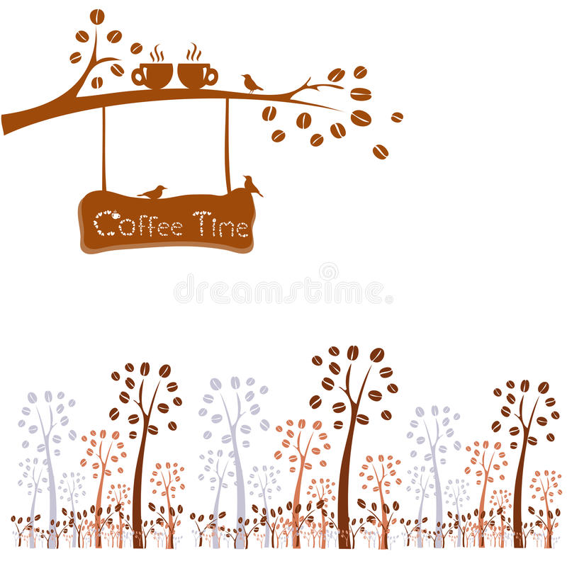 kawa więcej czasu wektorowy kawowy pojęcie royalty ilustracja