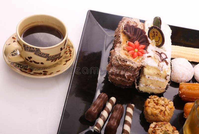 Kawa z deserem obraz royalty free
