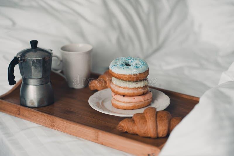 Kawa z donuts zdjęcia stock
