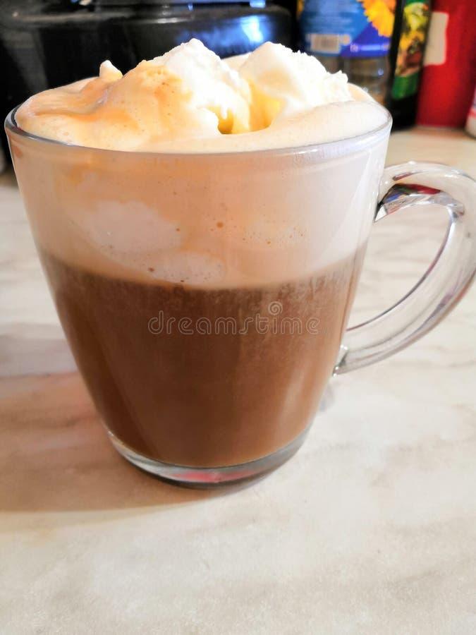 Kawa z lody dla śniadania fotografia stock