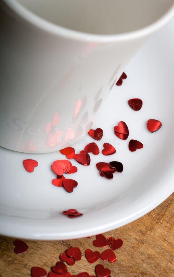 Download Kawa z miłością obraz stock. Obraz złożonej z tkanina - 28969355