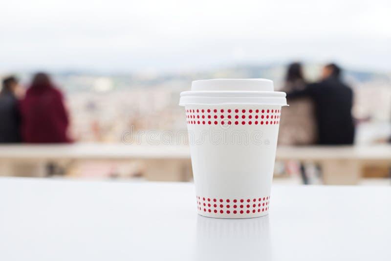 Kawa z panoramicznym widokiem obraz stock