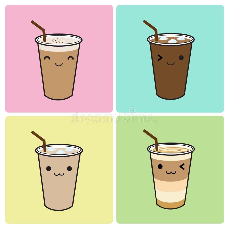 kawa zamrażająca royalty ilustracja