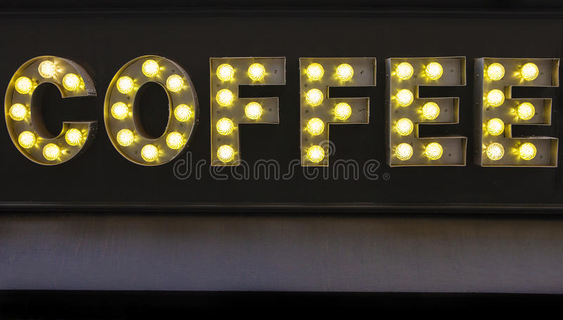 Kawa znak na kawiarni obrazy royalty free