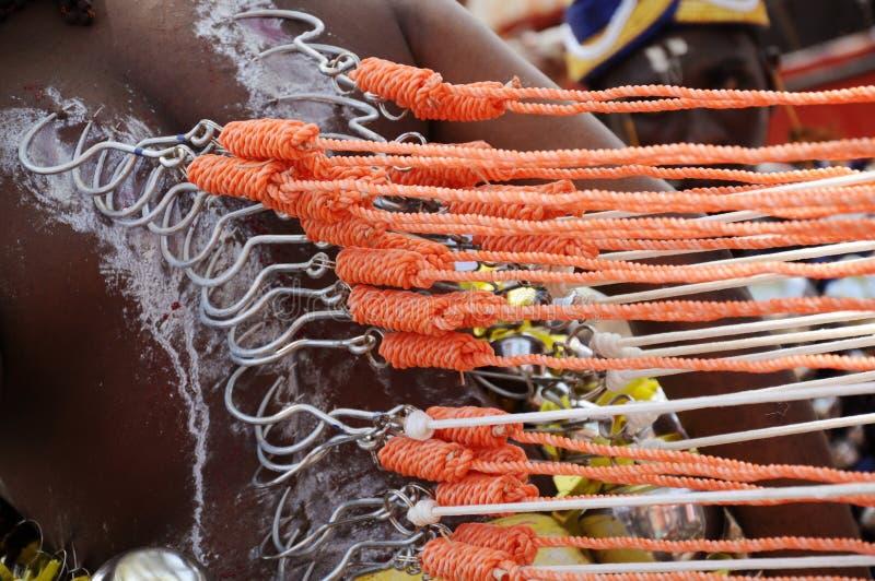 Kawadi à la célébration de Thaipusam photos libres de droits