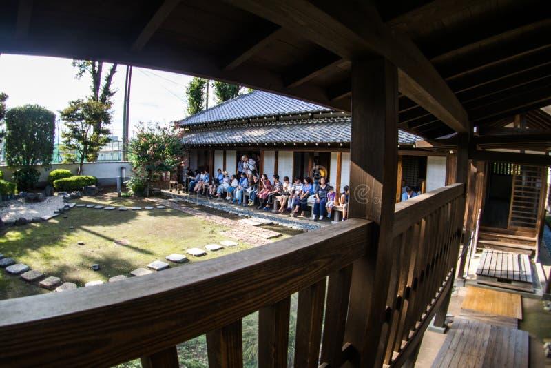 Kawagoe Castle Honmaru Goten Palace in East Janpan, Sep 2018.  stock photography