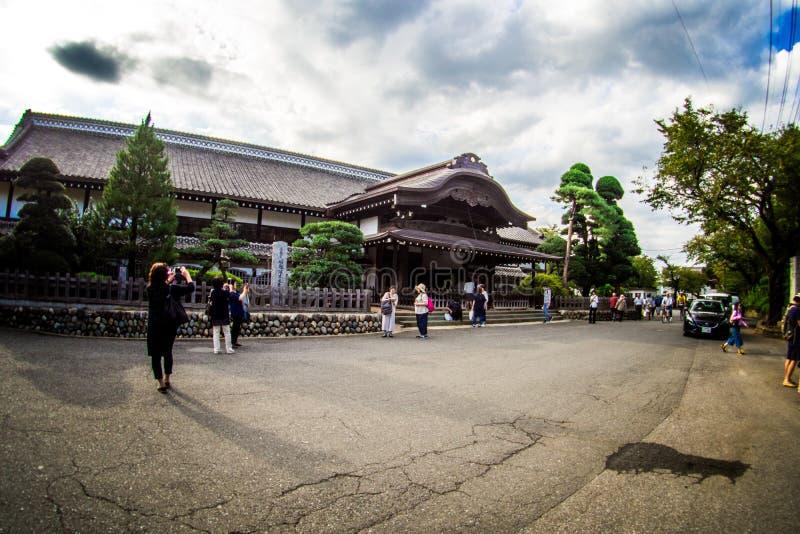 Kawagoe Castle Honmaru Goten Palace in East Janpan, Sep 2018.  royalty free stock photos