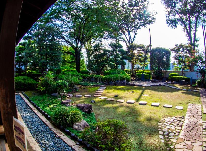 Kawagoe Castle Honmaru Goten Palace in East Janpan, Sep 2018.  stock photo