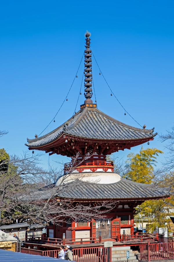 KAWAGOE, SAITAMA prefektura JAPONIA, LUTY, - 3, 2016: Antyczna Japo?ska pagoda i pi?kny krajobraz w jesieni zdjęcia royalty free