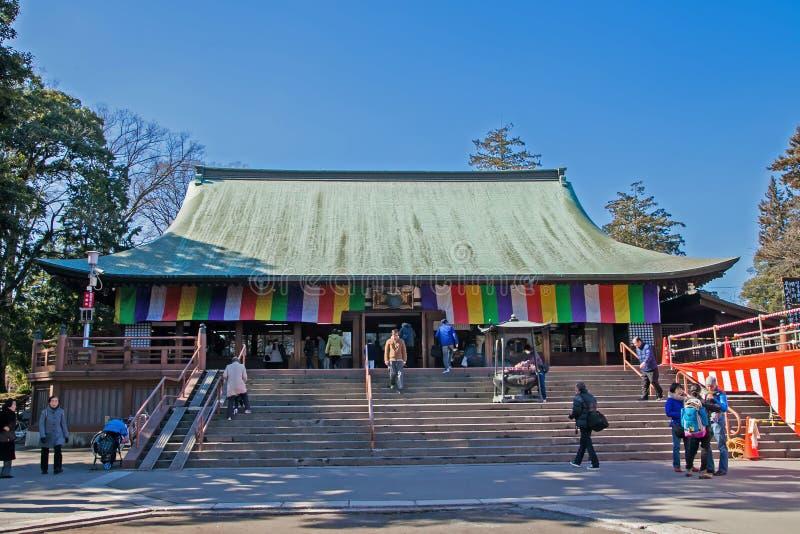 KAWAGOE, SAITAMA prefektura JAPONIA, LUTY, - 3, 2016: Pi?kna Antyczna ?wi?tynia Kitain ?wi?tynia fotografia royalty free