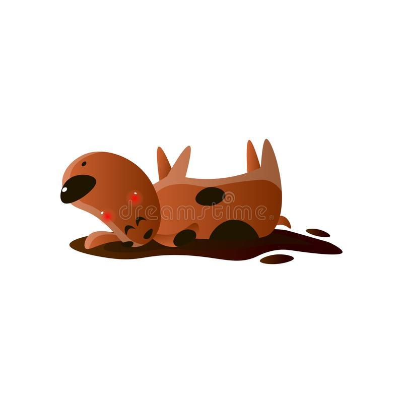 Puddle of chocolate mud spill clipart brown stain Vector Image