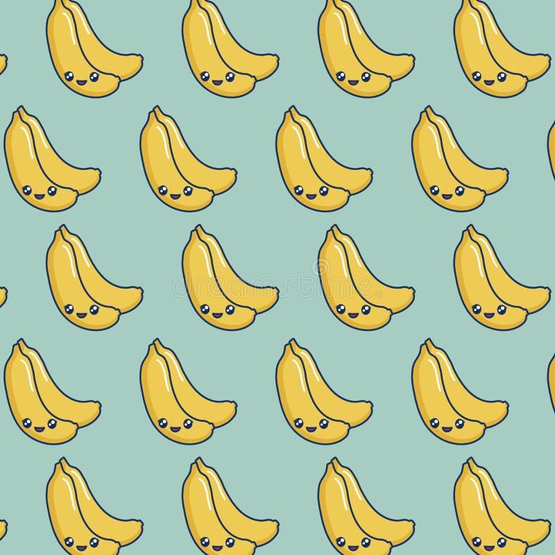 Kawaii bananów projekt ilustracja wektor