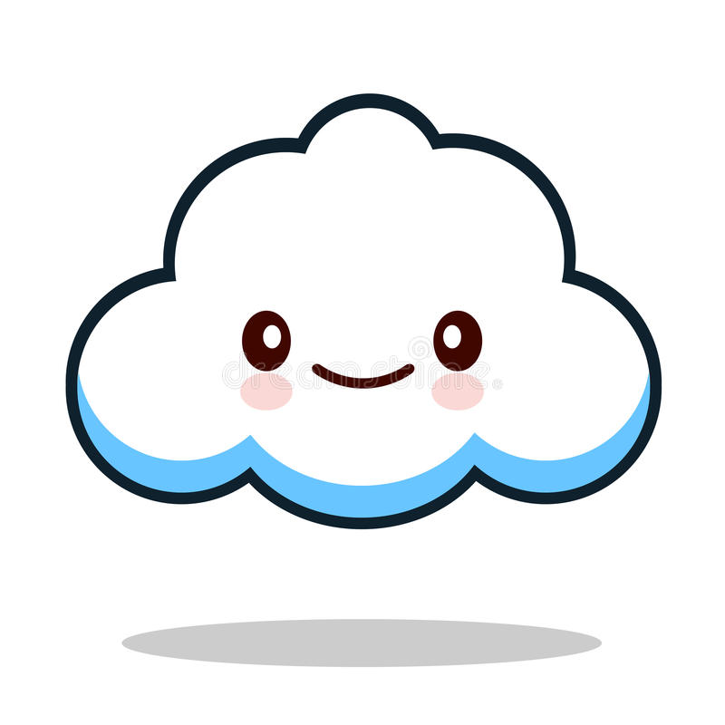 kawaii cartoon white emoticon cute cloud stock vector rh dreamstime com cloud vector background cloud vector background
