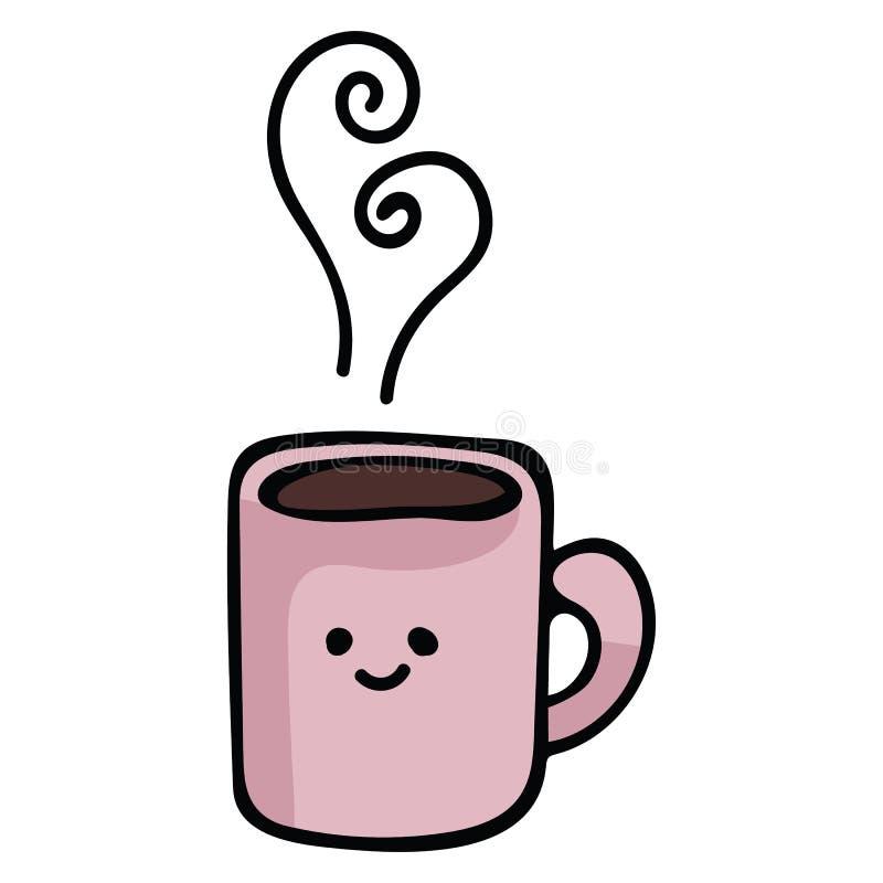kawaii coffee mug cartoon vector illustration motif set stock illustration illustration of restaurant mocha 137888957 kawaii coffee mug cartoon vector