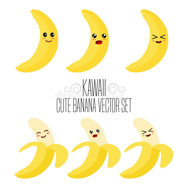 Free Kawaii Isolated Banana Template. Cute Illustration Of An Banana`s Friendliness. Hand Made Adorable Background Art. Vegetable Wallp Royalty Free Stock Images - 153050549