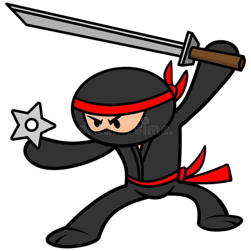 Kawaii Ninja ilustracji