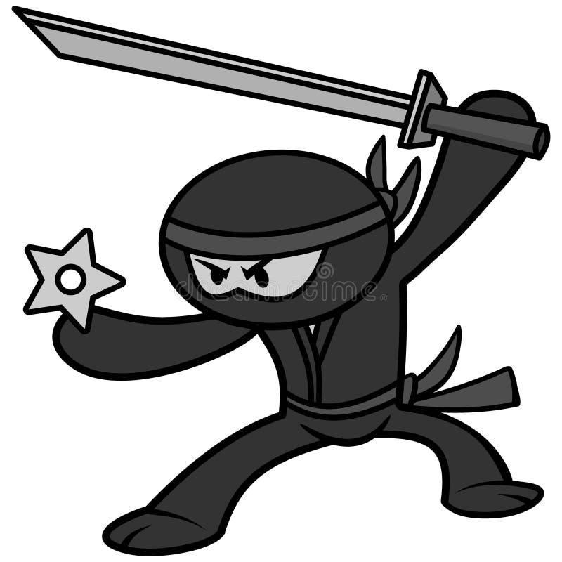 Kawaii Ninja ilustracja ilustracji