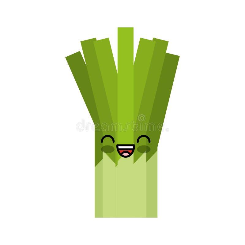 Kawaiikarakter van de selderie verse groente vector illustratie