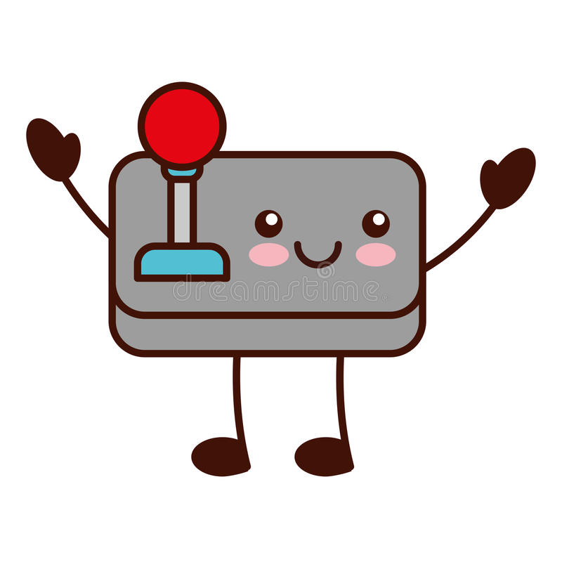 kawaiikarakter van de videospelletjecontrole vector illustratie