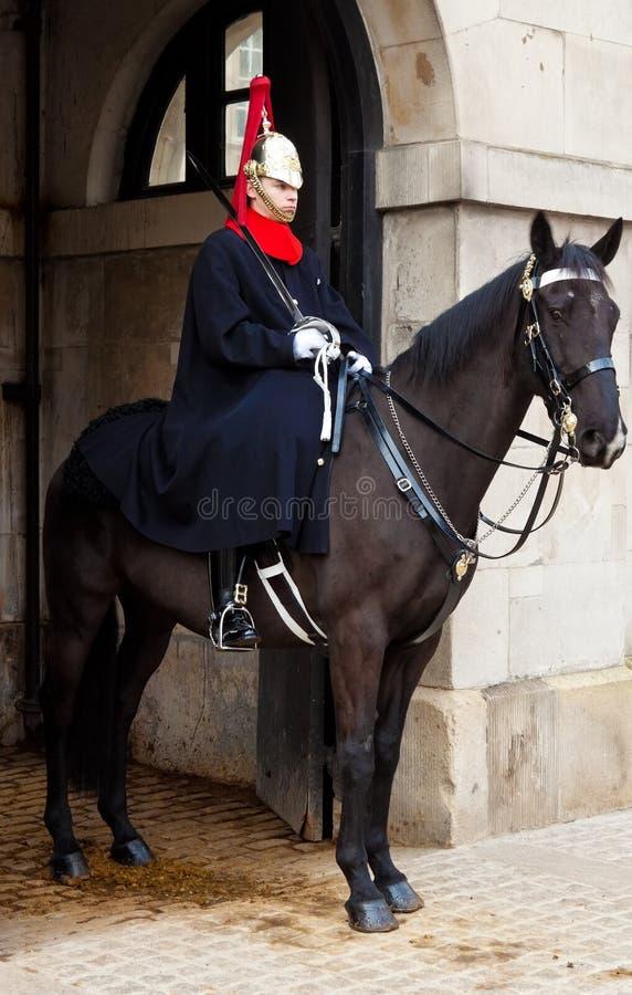 kawaleria chroni koński outside wysyłającego kawalerzysty zdjęcia stock
