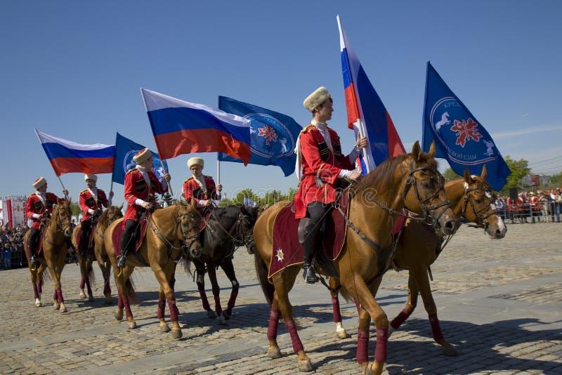 Kawaleria pokazuje w Moskwa obrazy stock