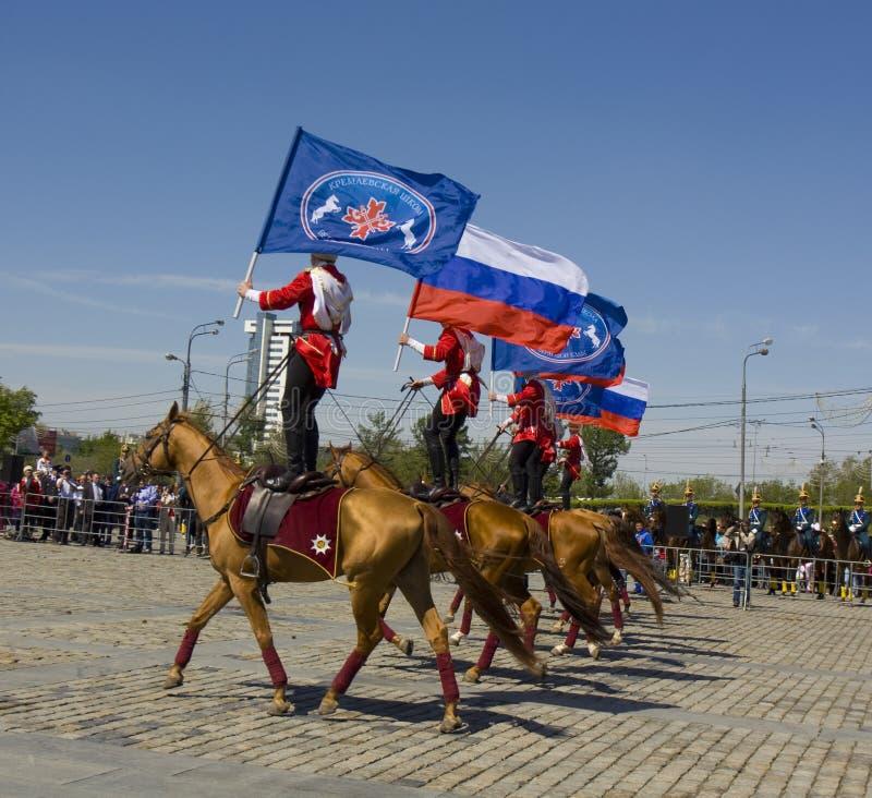 Kawaleria pokazuje w Moskwa obraz stock