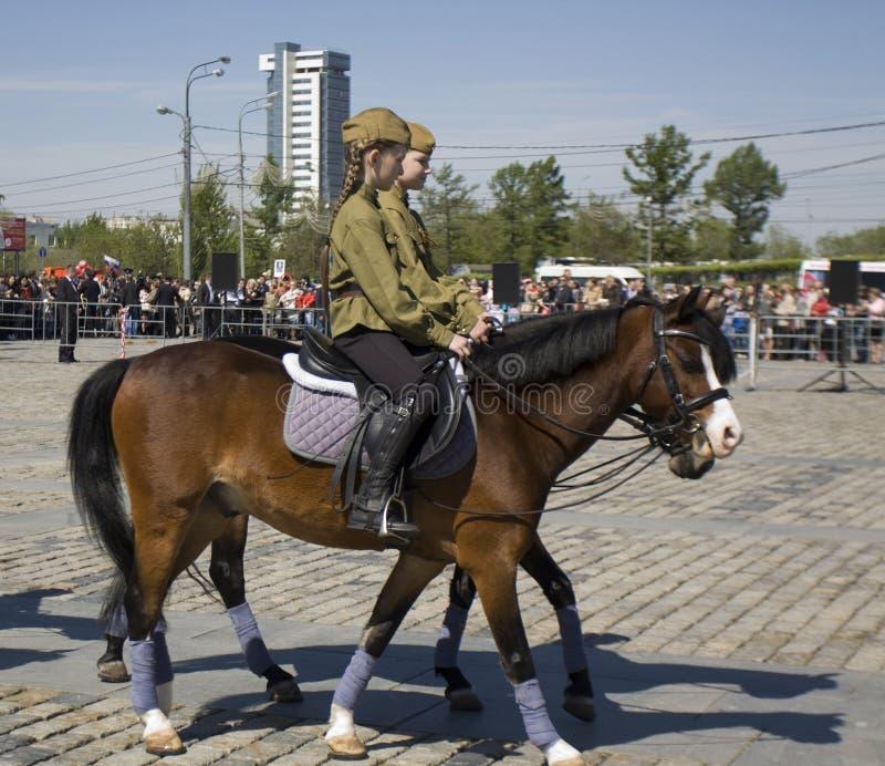 Kawaleria pokazuje w Moskwa fotografia stock