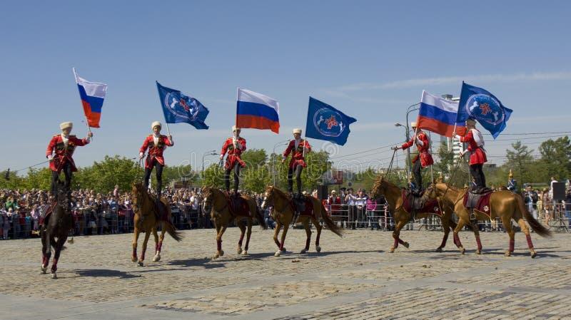 Kawaleria pokazuje w Moskwa fotografia royalty free