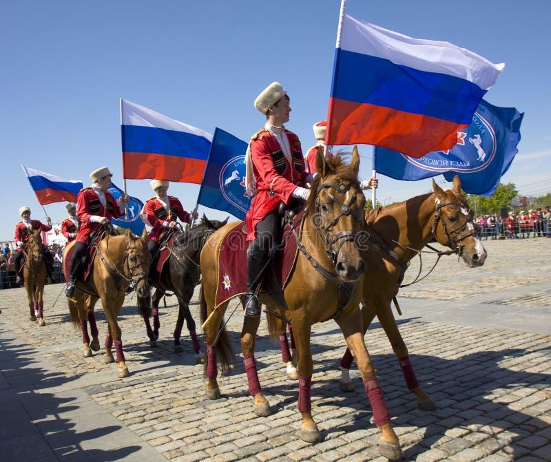 Kawaleria pokazuje w Moskwa obraz royalty free