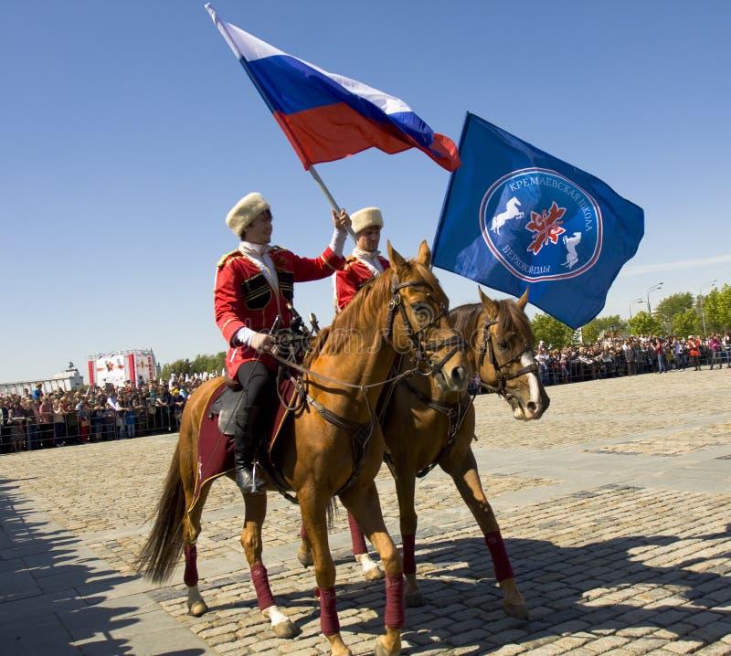Kawaleria pokazuje w Moskwa zdjęcia stock
