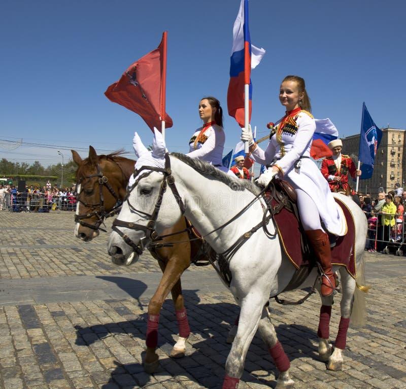Kawaleria pokazuje w Moskwa zdjęcie stock