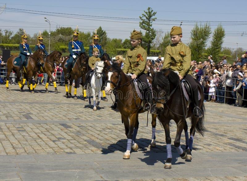 Kawaleria pokazuje w Moskwa zdjęcie royalty free