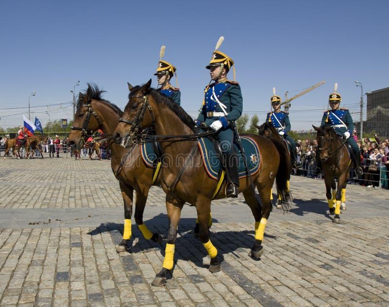 Kawaleria pokazuje w Moskwa zdjęcia royalty free
