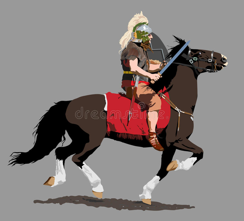 kawaleria rzymska royalty ilustracja
